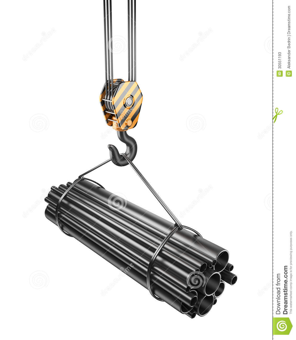 Crane Hook 3d Isolated Royalty Free Stock Image