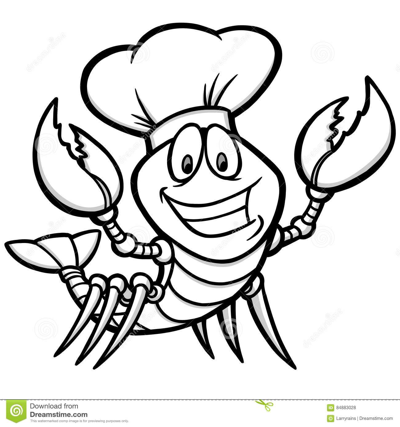 Crawfish Supper Vector Illustration