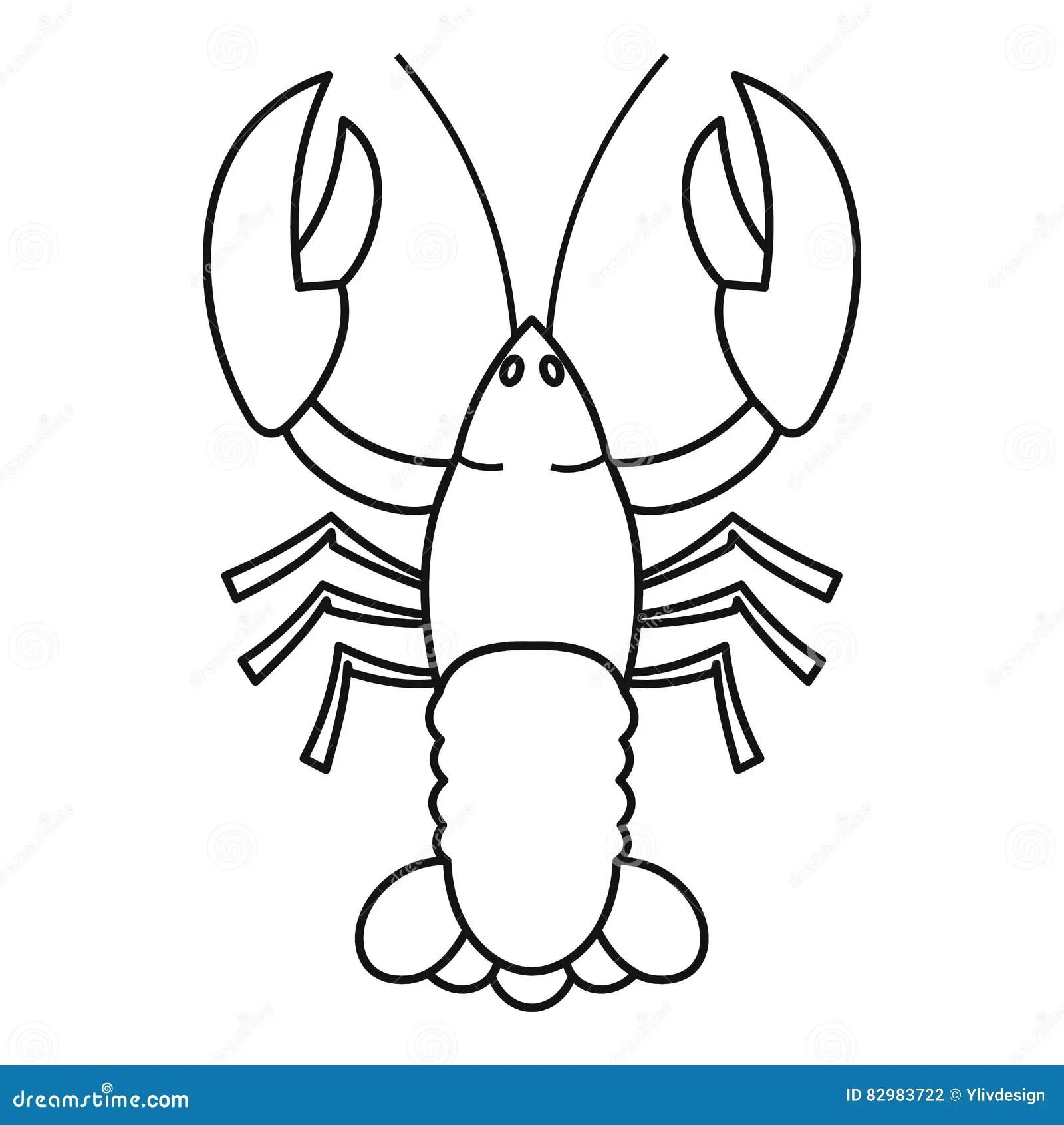 Crayfish Unlabeled Diagram Sketch Coloring Page