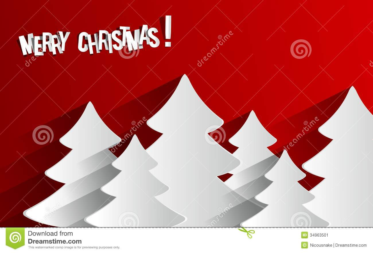 Creative Abstract Merry Christmas Card Stock Vector