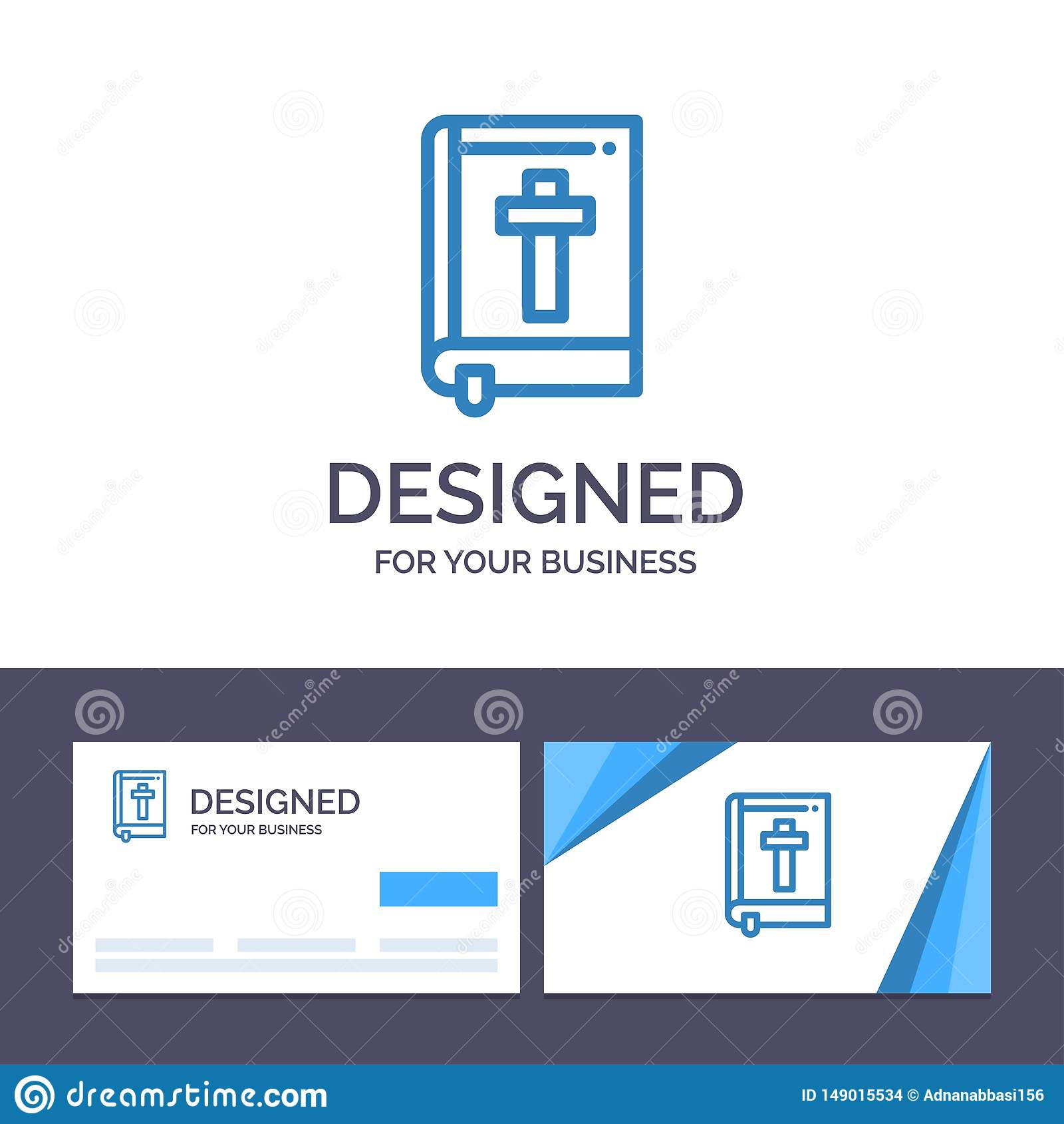 Creative Business Card And Logo Template Bible Book Easter