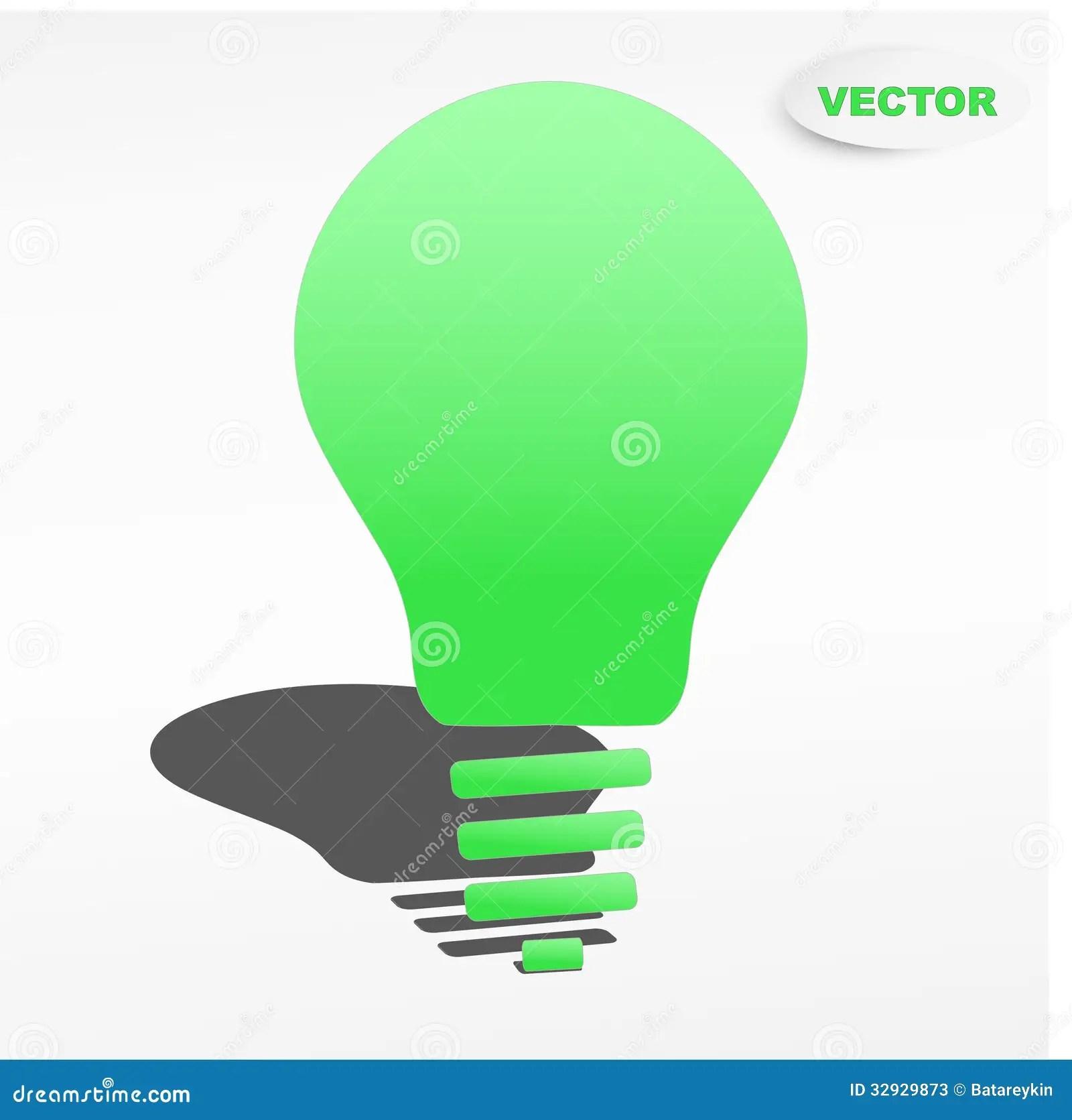 Creative Light Bulb Label Vector Design Stock Photos
