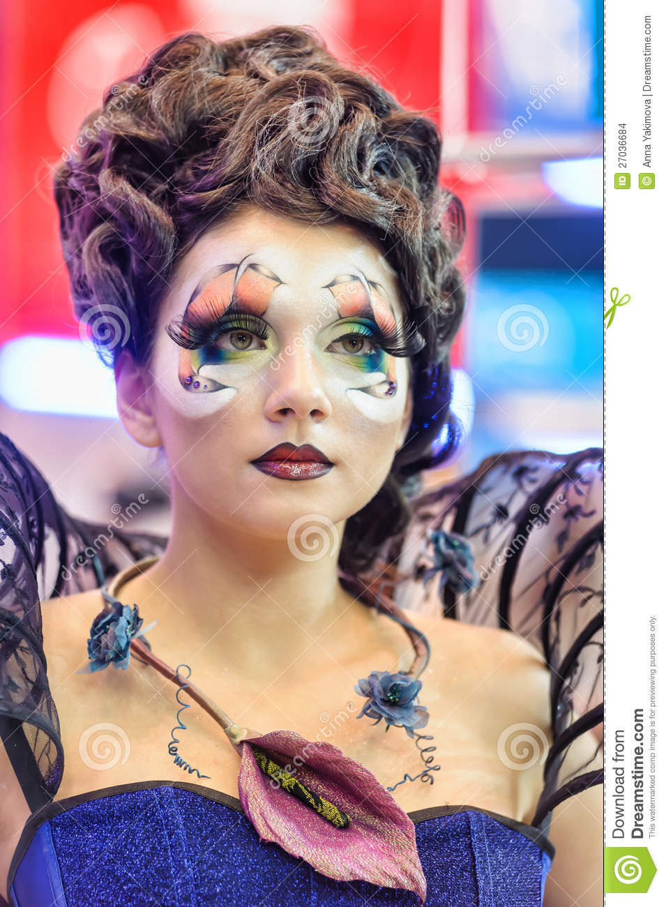 Creative Makeup Show At The Festival Of Beauty Editorial