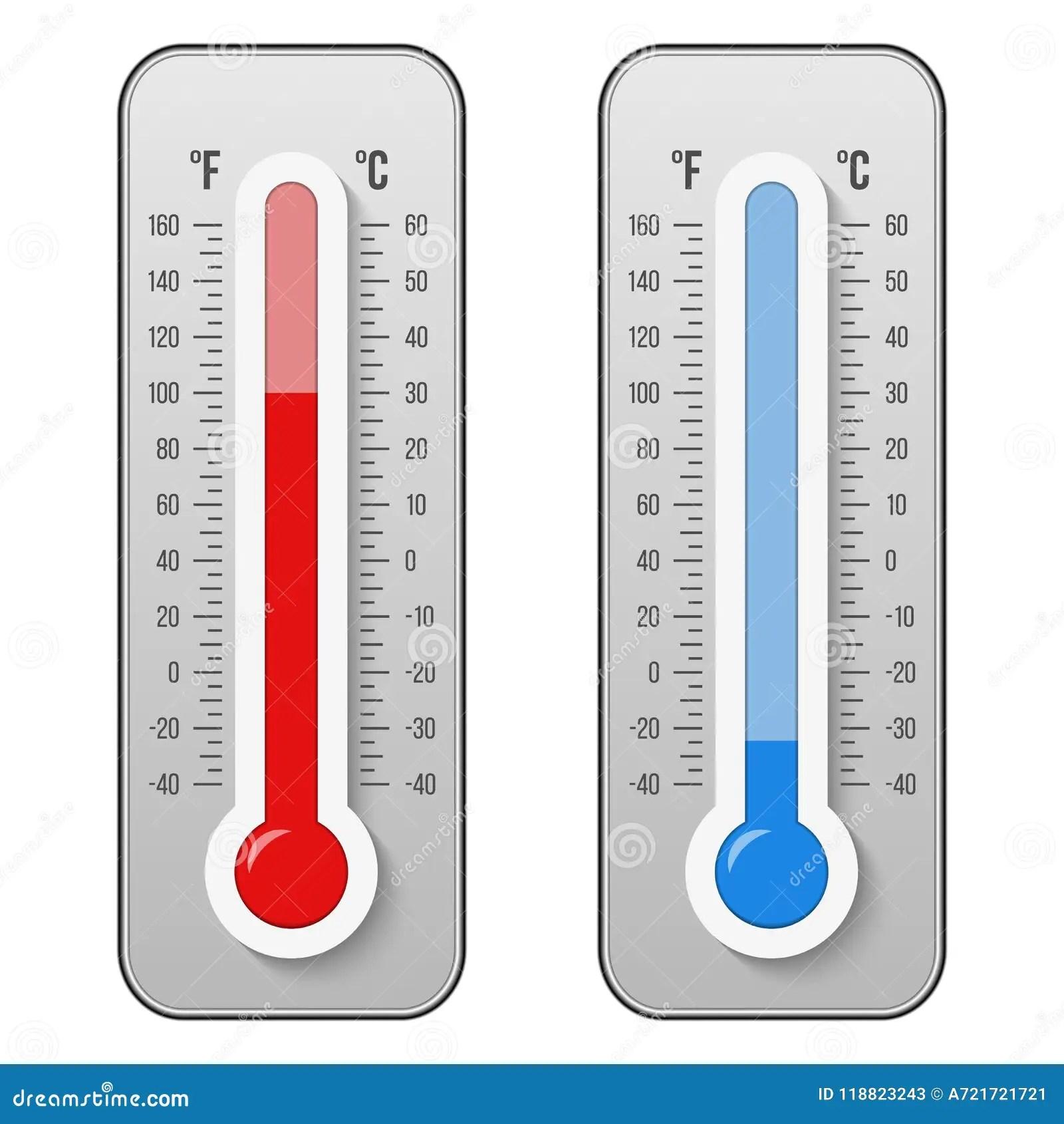 Creative Vector Illustration Of Celsius Fahrenheit