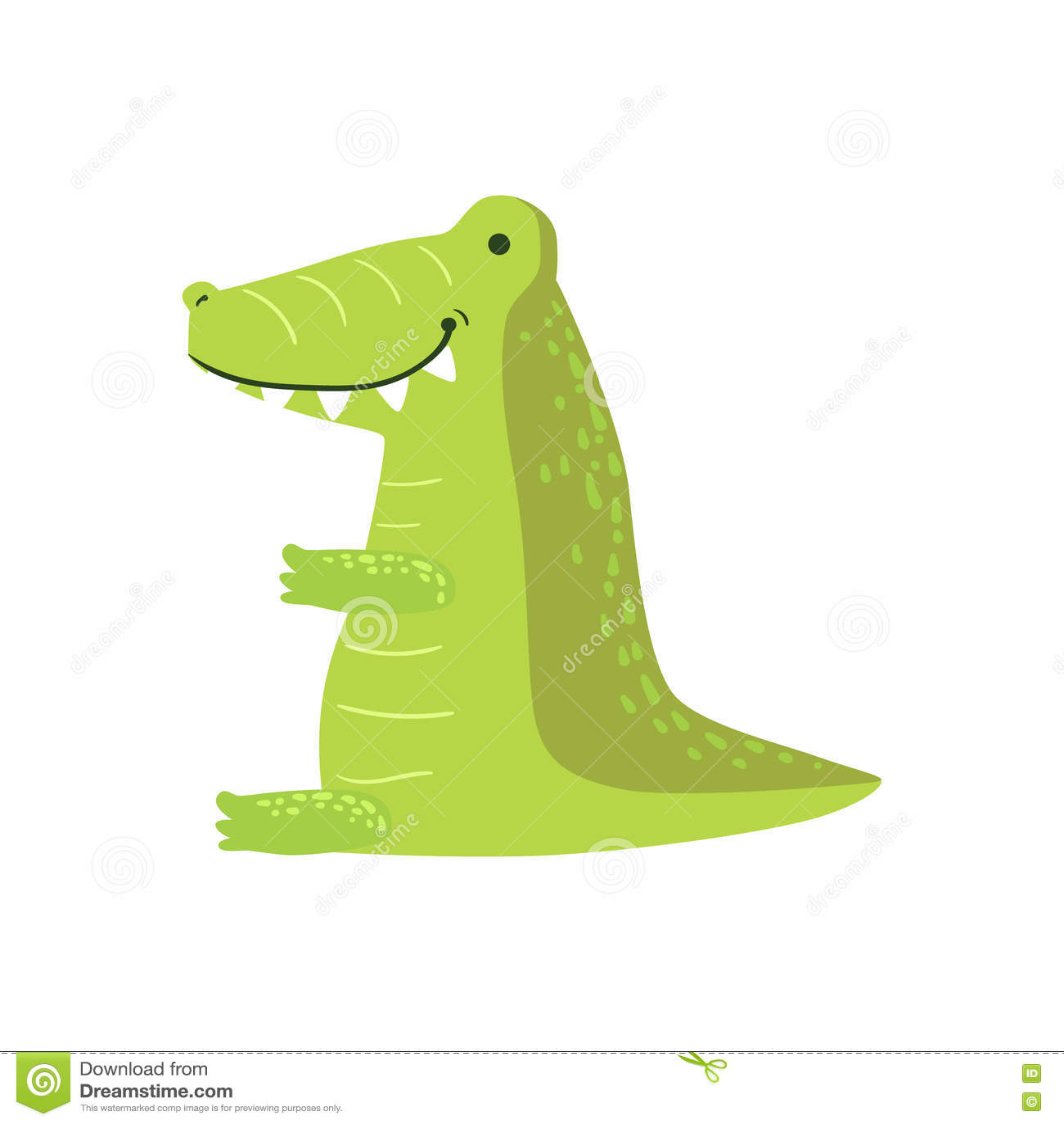 Crocodile Vector Drawing Cartoon Vector Cartoondealer Com 80121717
