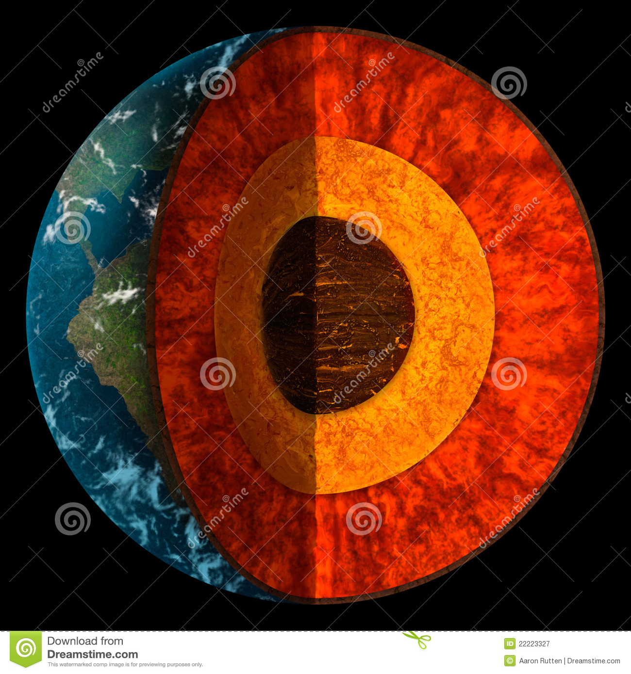 Cross Section Of Planet Earth