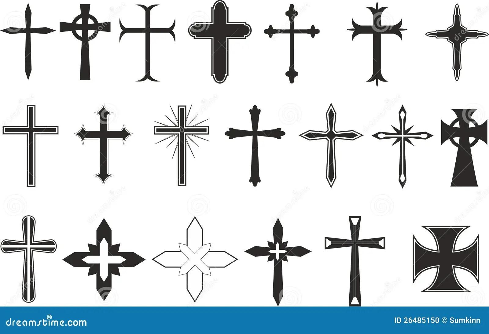 Cross Symbols Stock Photo