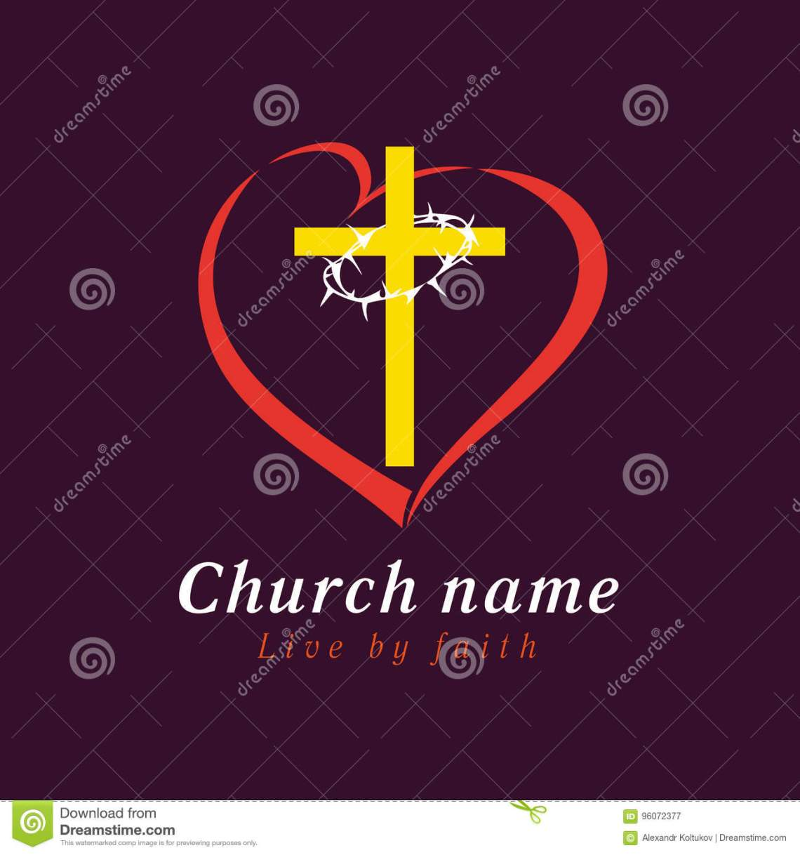 Download Cross And Thorns Love Church Logo Stock Vector ...