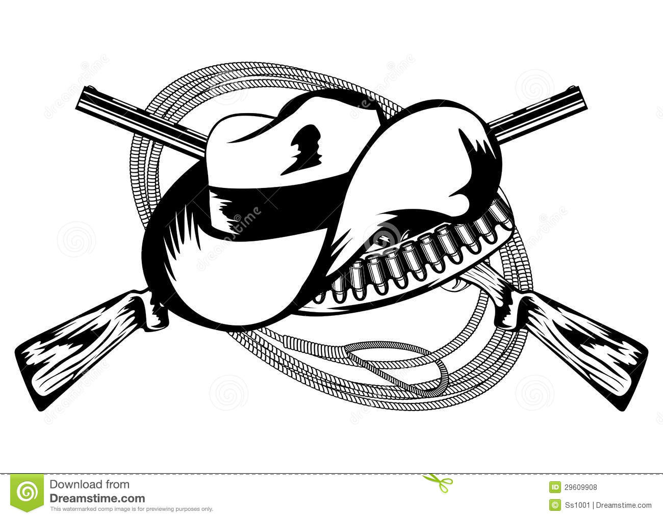 Crossed Rifles And Hat Stock Vector Image Of Design