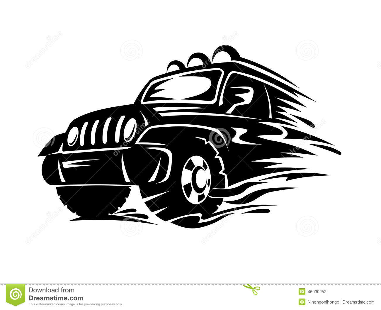 Crossover Car Stock Vector