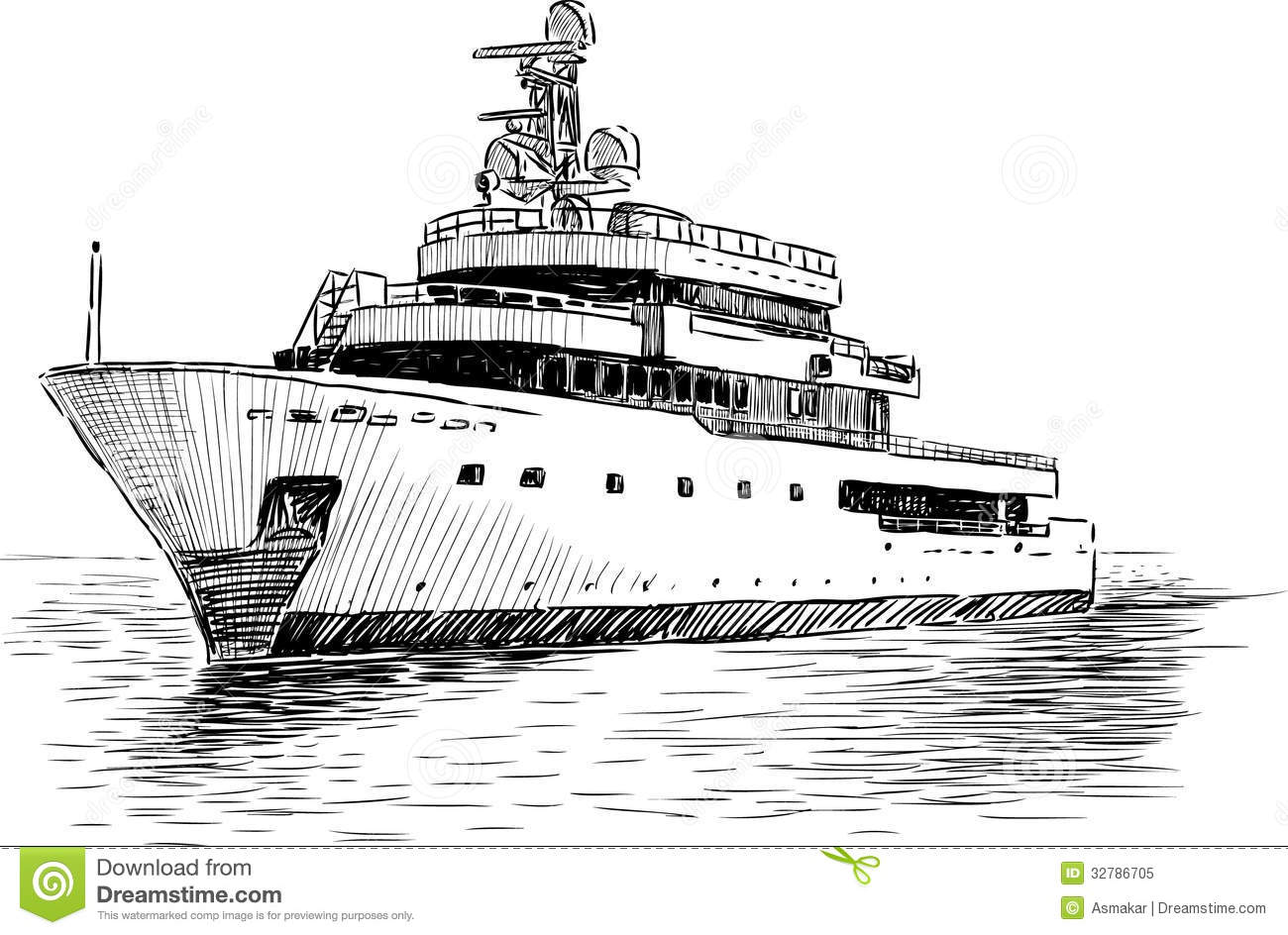 Cruise Yacht Stock Vector Illustration Of Vacations