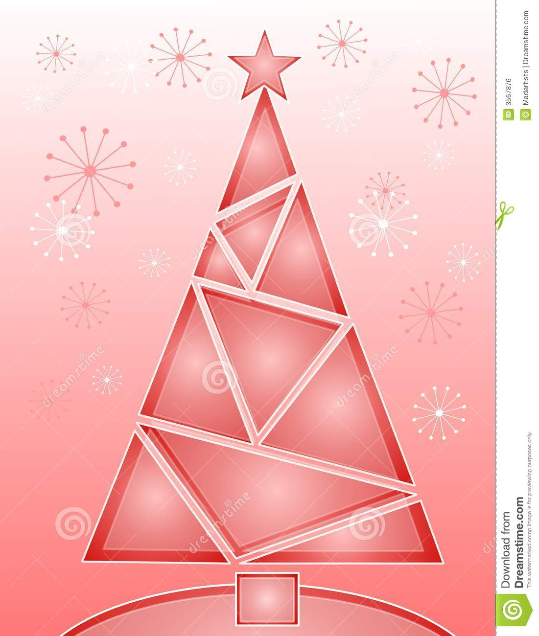 Crystal Pink Christmas Tree Royalty Free Stock Image