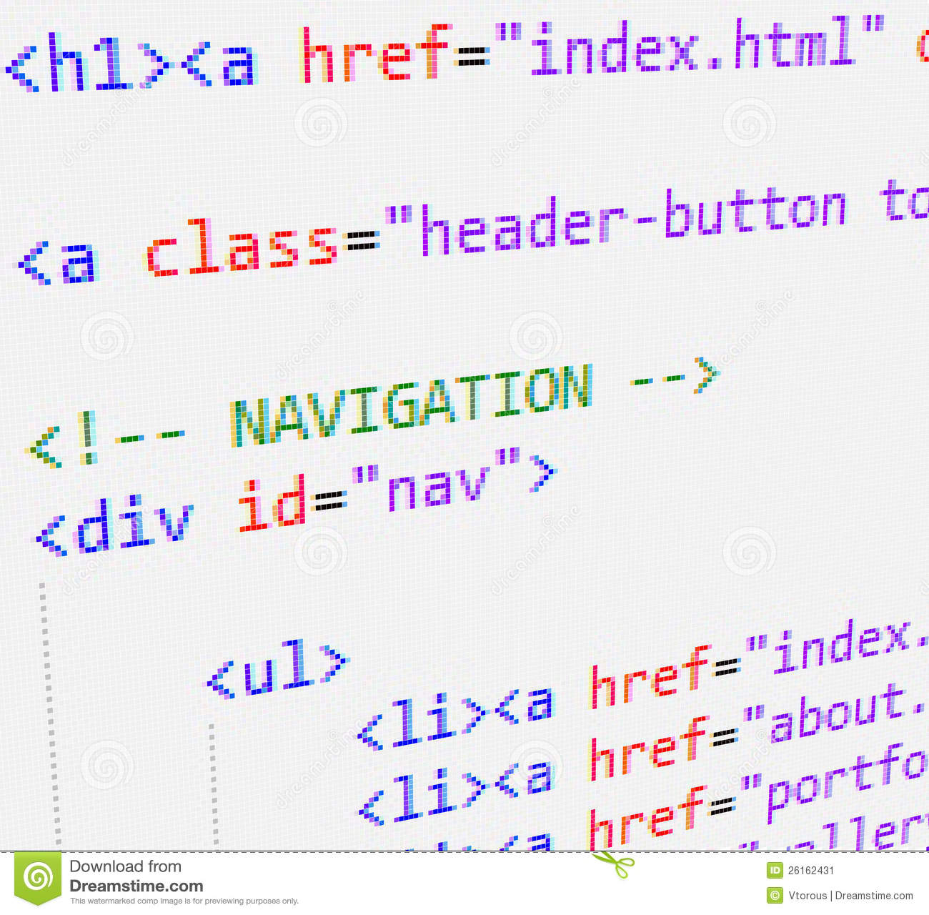 CSS And HTML Code Stock Image Image 26162431