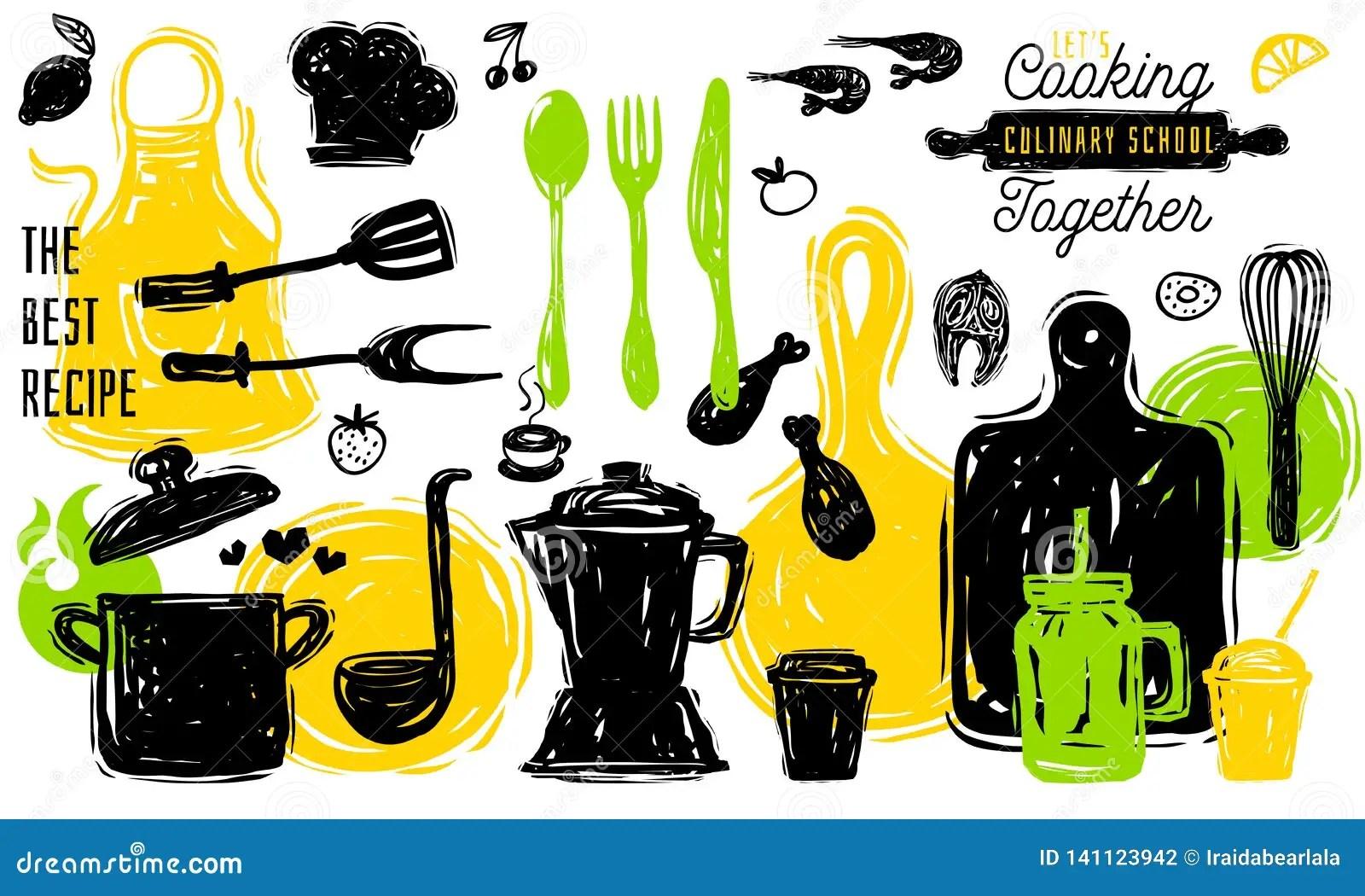 Culinary School Logo Design Label Sticker Poster Banner
