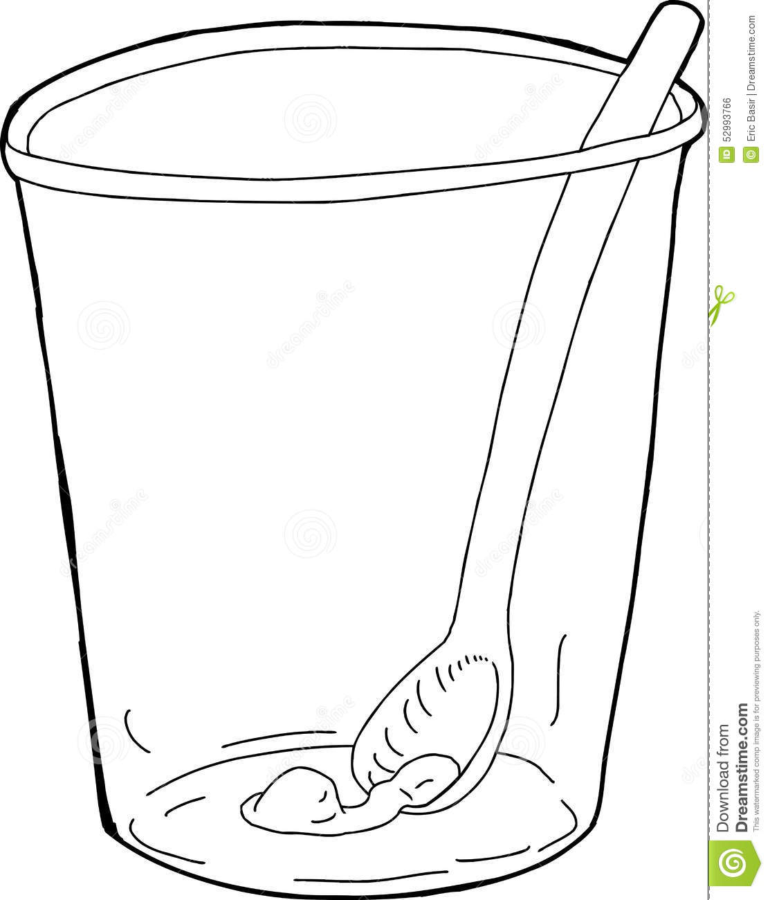 Cup With Spoon And Food Inside Stock Illustration