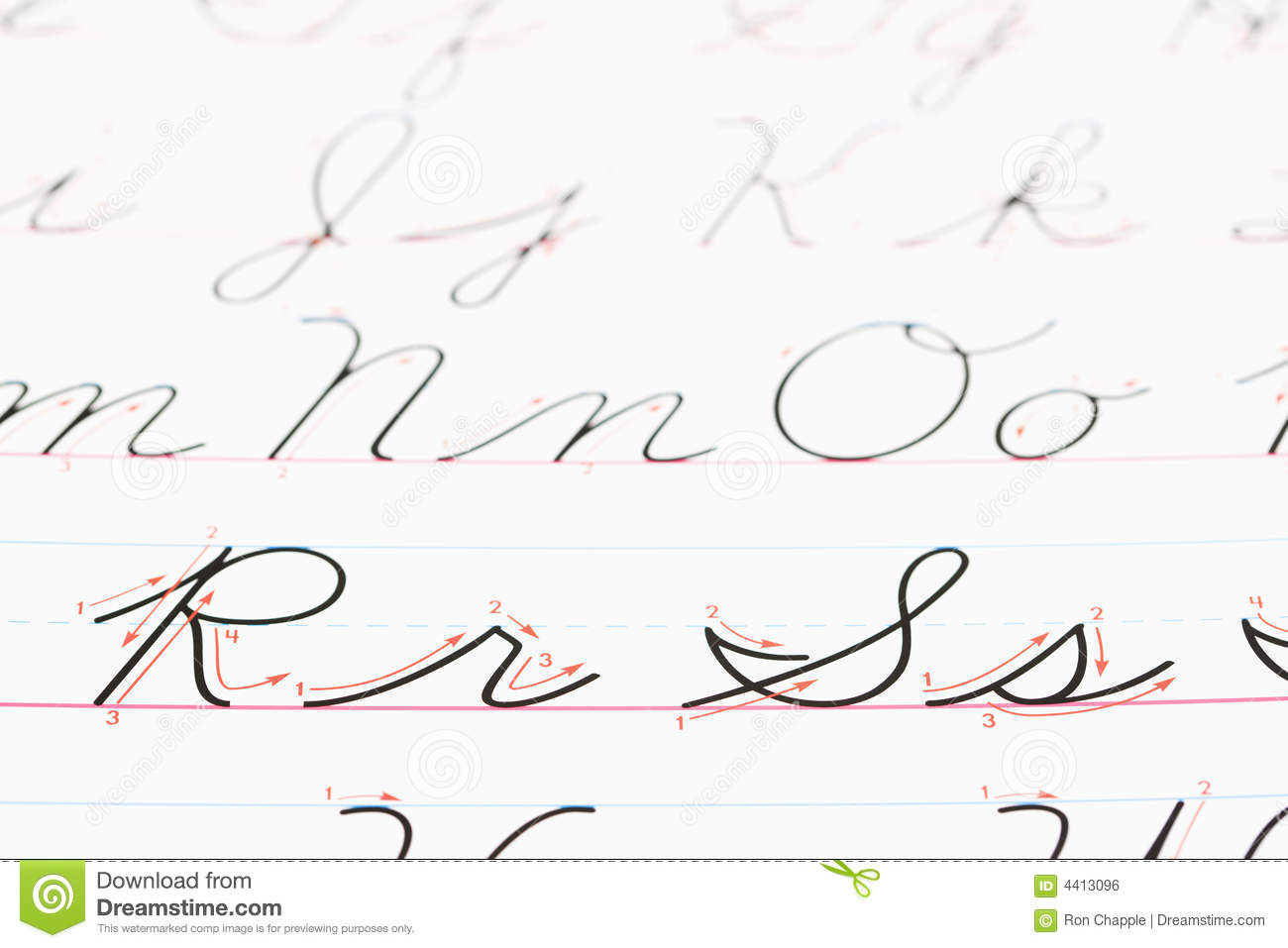 Cursive Handwriting Stock Photo Image Of Alphabet Color