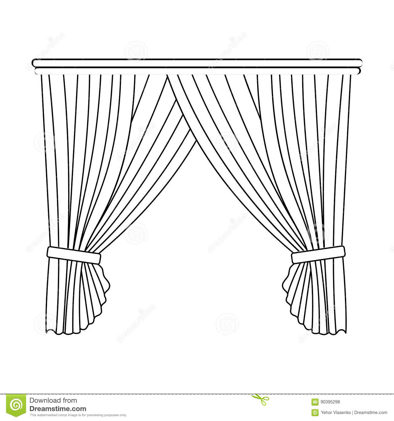 Curtains With D Ry On The Cornicertains Single Icon
