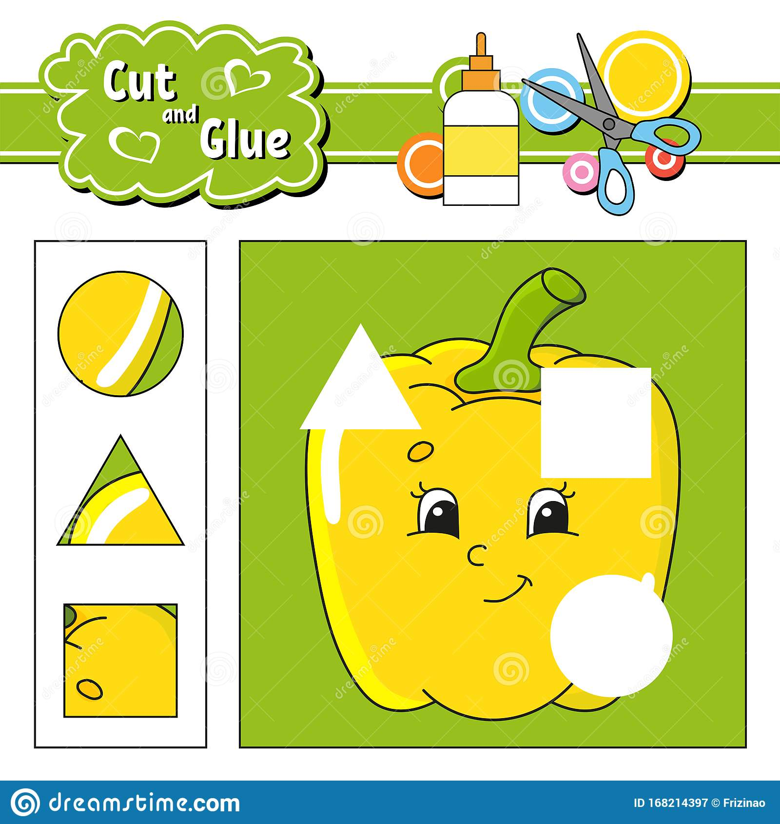 Cut And Glue Game For Kids Education Developing