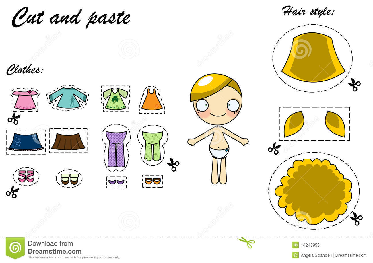Cut And Paste Dress Doll Stock Photos