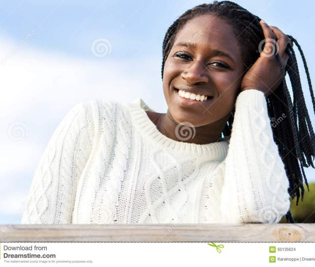 Cute African Teen Girl With Charming Smile