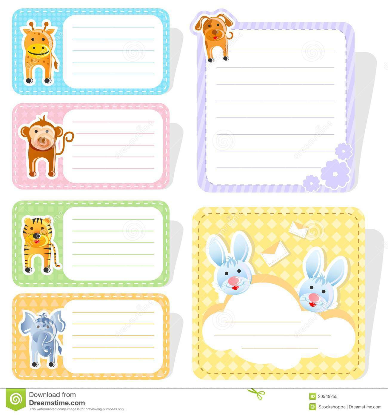 Cute Animal Label Stock Vector Illustration Of Cute