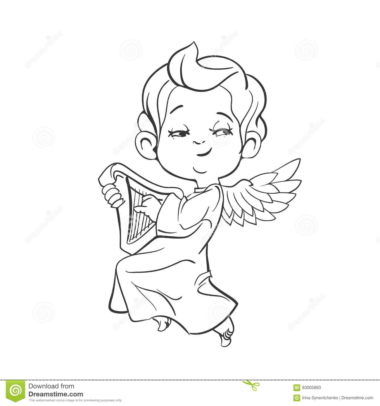 Cute Baby Angel Coloring Pages