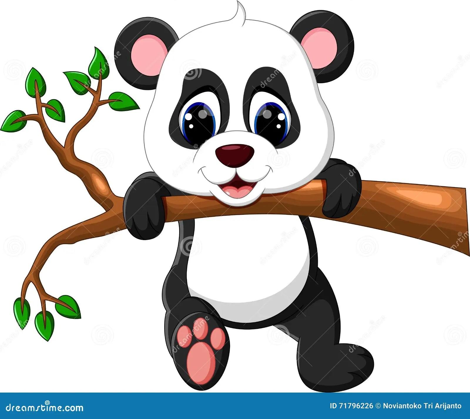 Cute Baby Panda Cartoon Vector Illustration