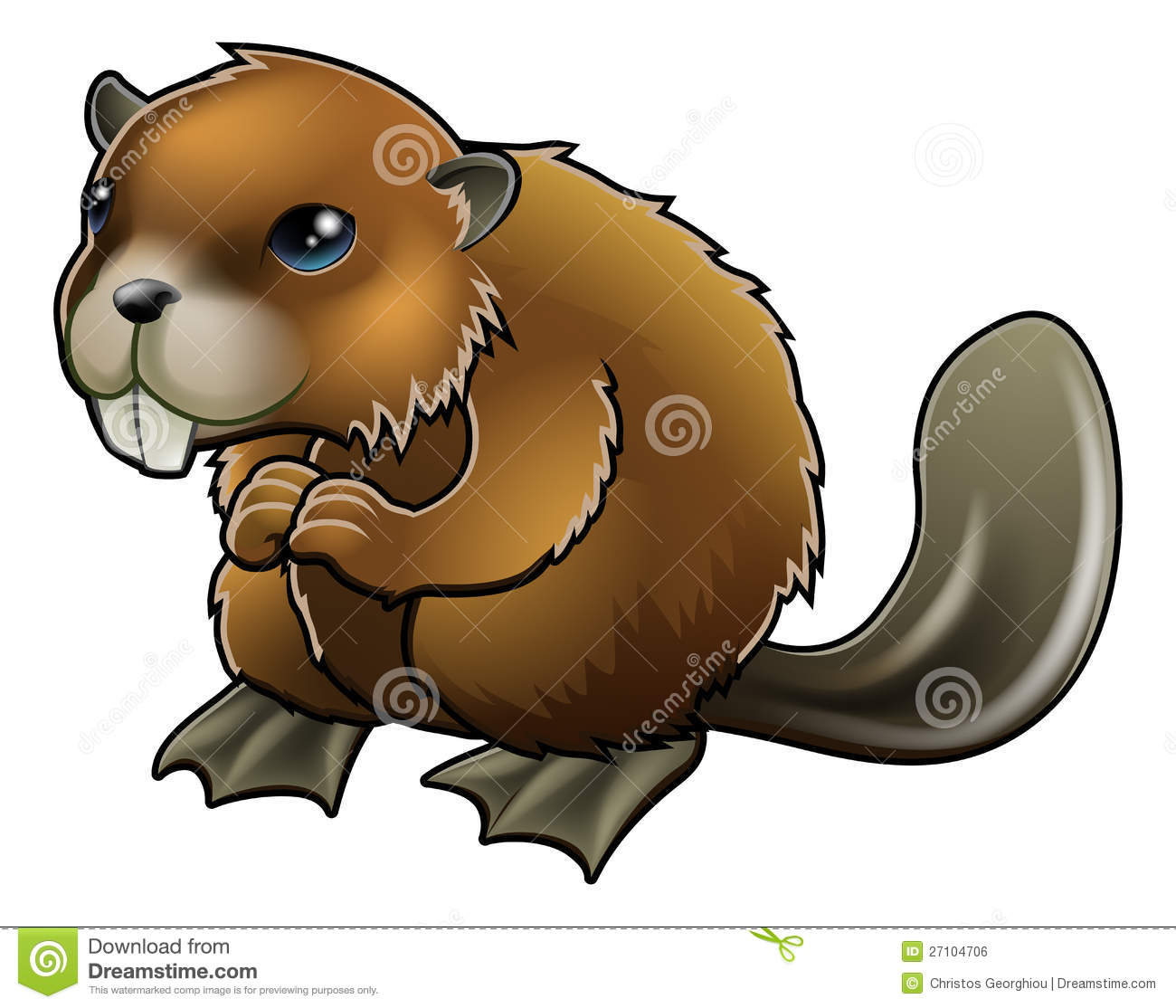 cute beaver royalty free stock image image 27104706