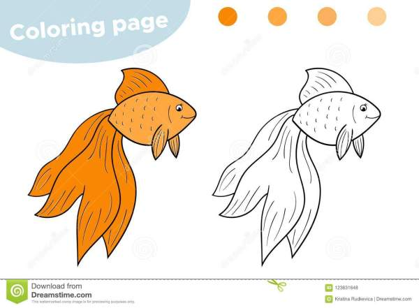 goldfish coloring page # 10