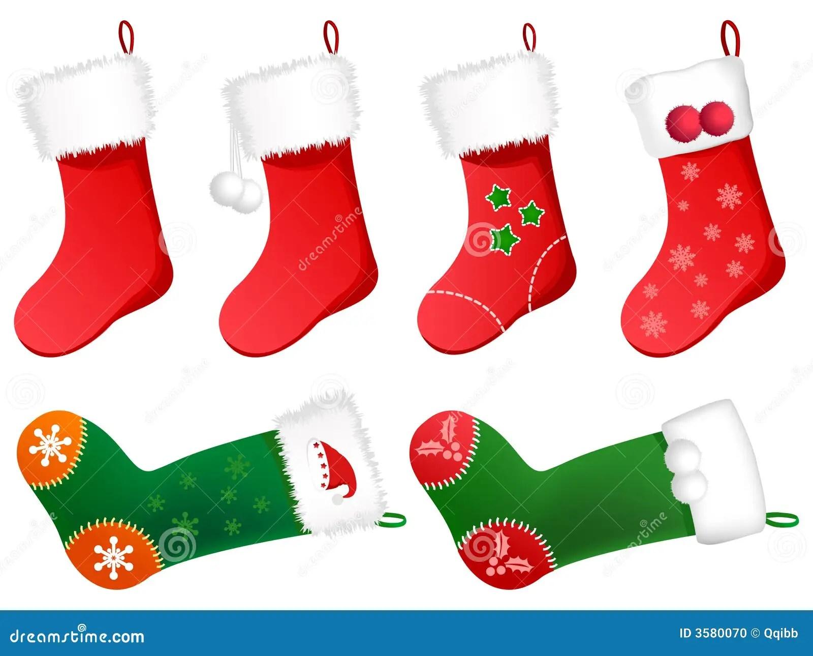 Cute Christmas Stockings Stock Photo