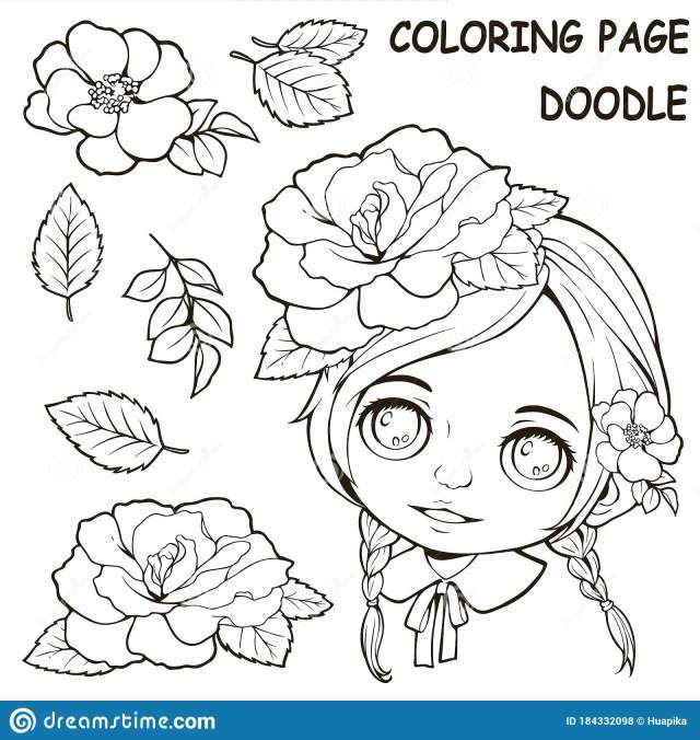 Girl Coloring Pages Stock Illustrations – 29,29 Girl Coloring