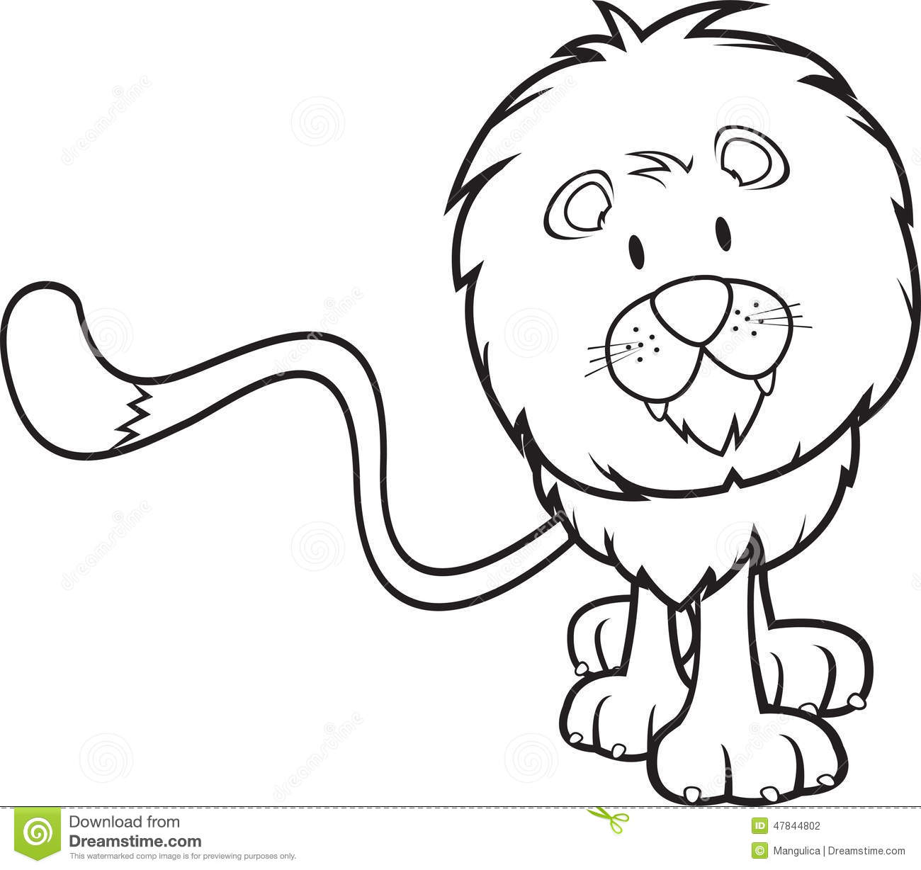 Cute Lion Coloring Book Stock Vector Illustration Of