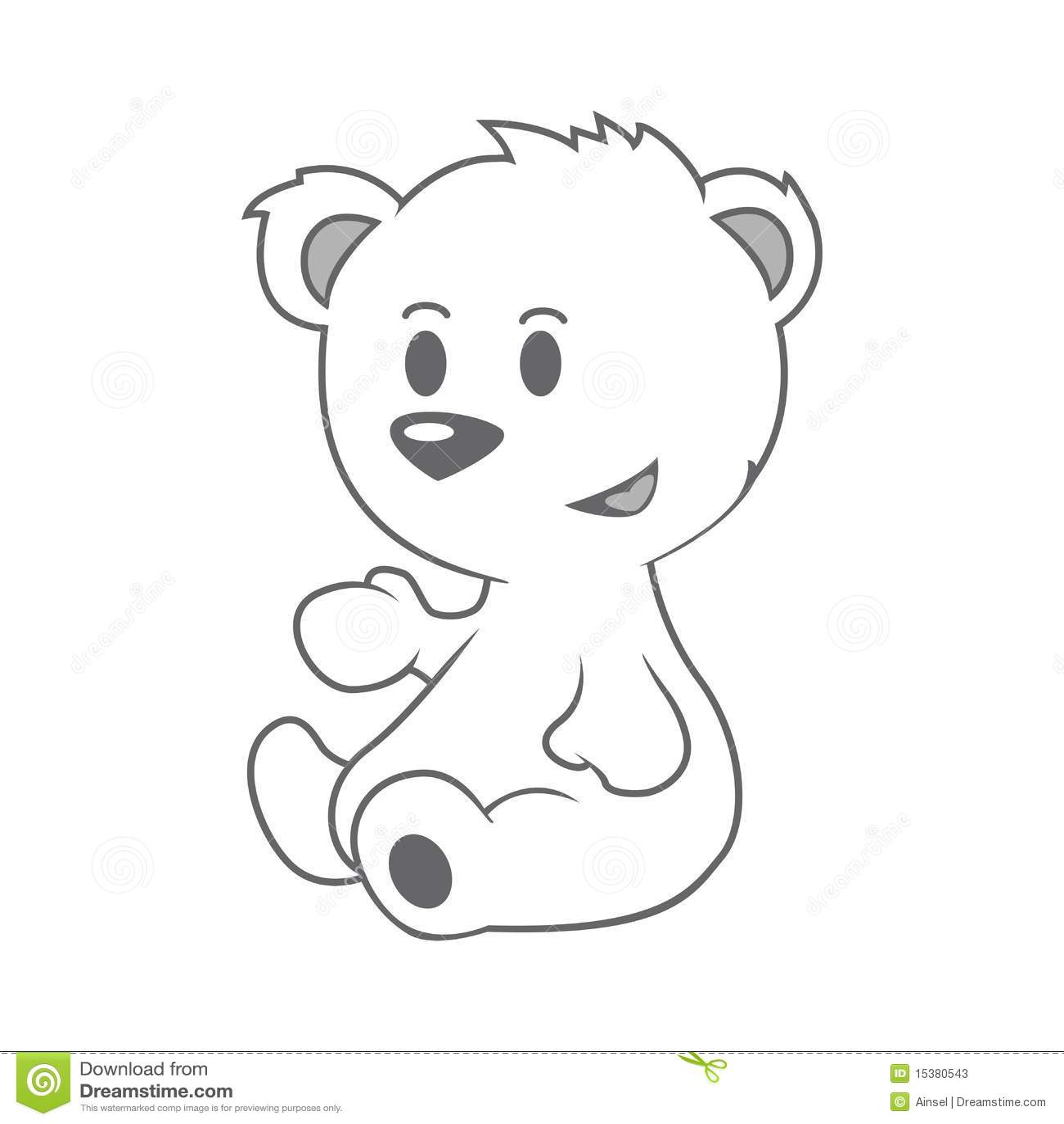 Cute Little Bear Stock Vector Illustration Of Cheerful