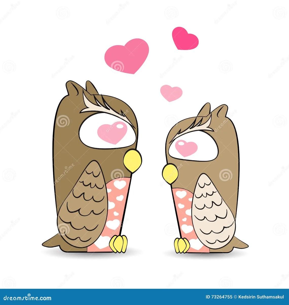 Download Cute Owls In Love Vector,owls Feel Love Stock Vector ...