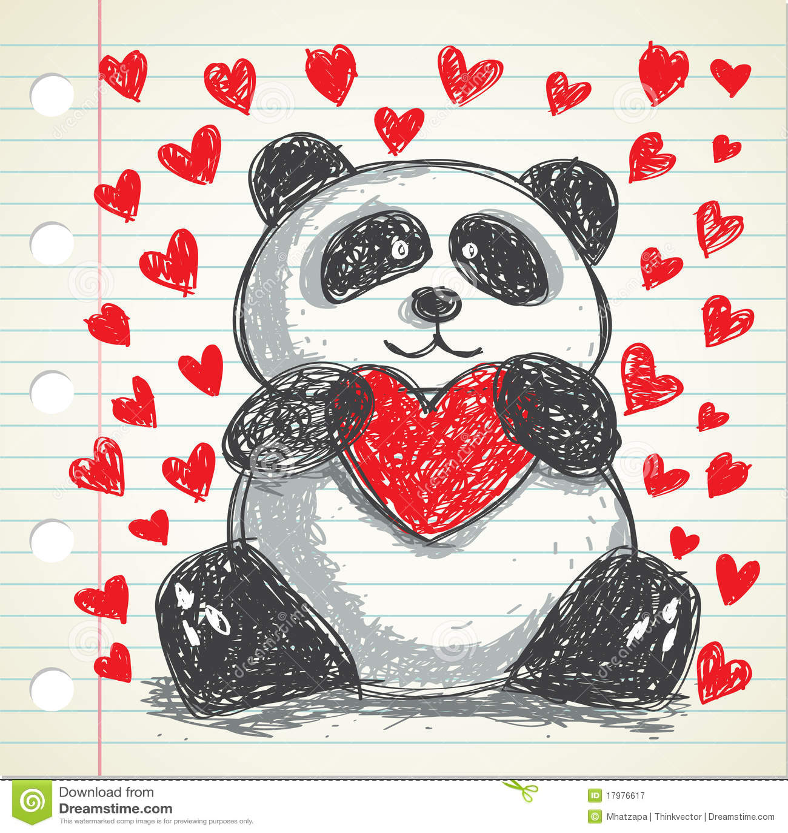Cute Panda Stock Illustration Illustration Of Clip