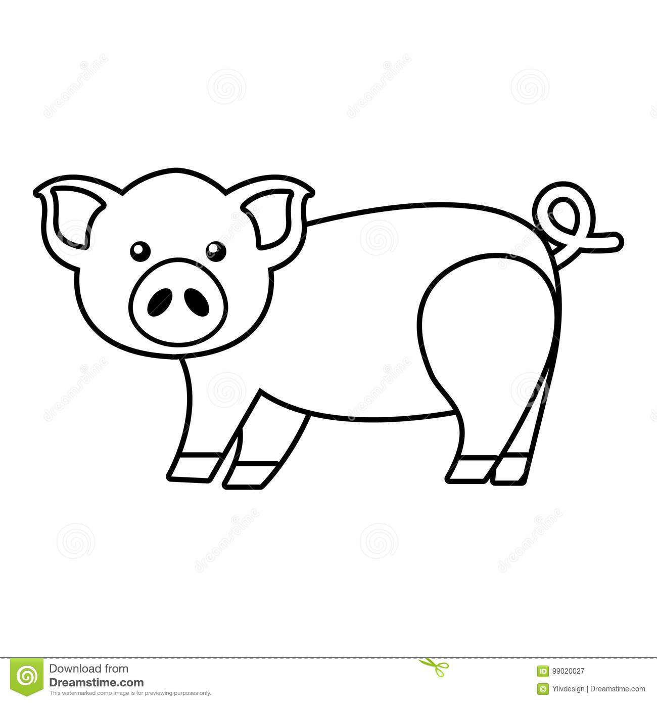 Pig Outline Stock Illustrations 2 644 Pig Outline Stock