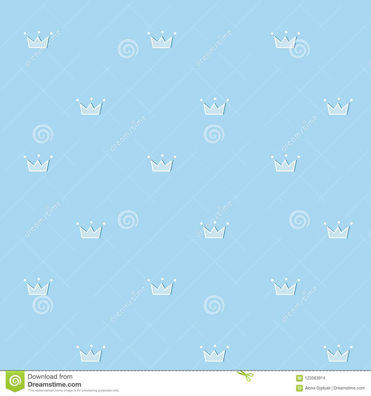 https www dreamstime com cute seamless pattern blue royal vector background doodle crown white dots d esign prince nursery baby boy clothes fabric image123563914