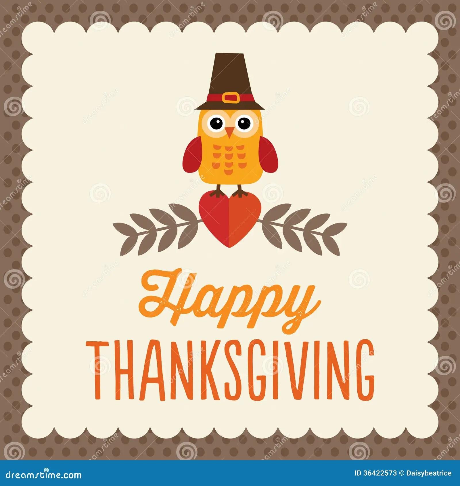 Cute Thanksgiving Card Stock Vector Illustration Of Bird 36422573
