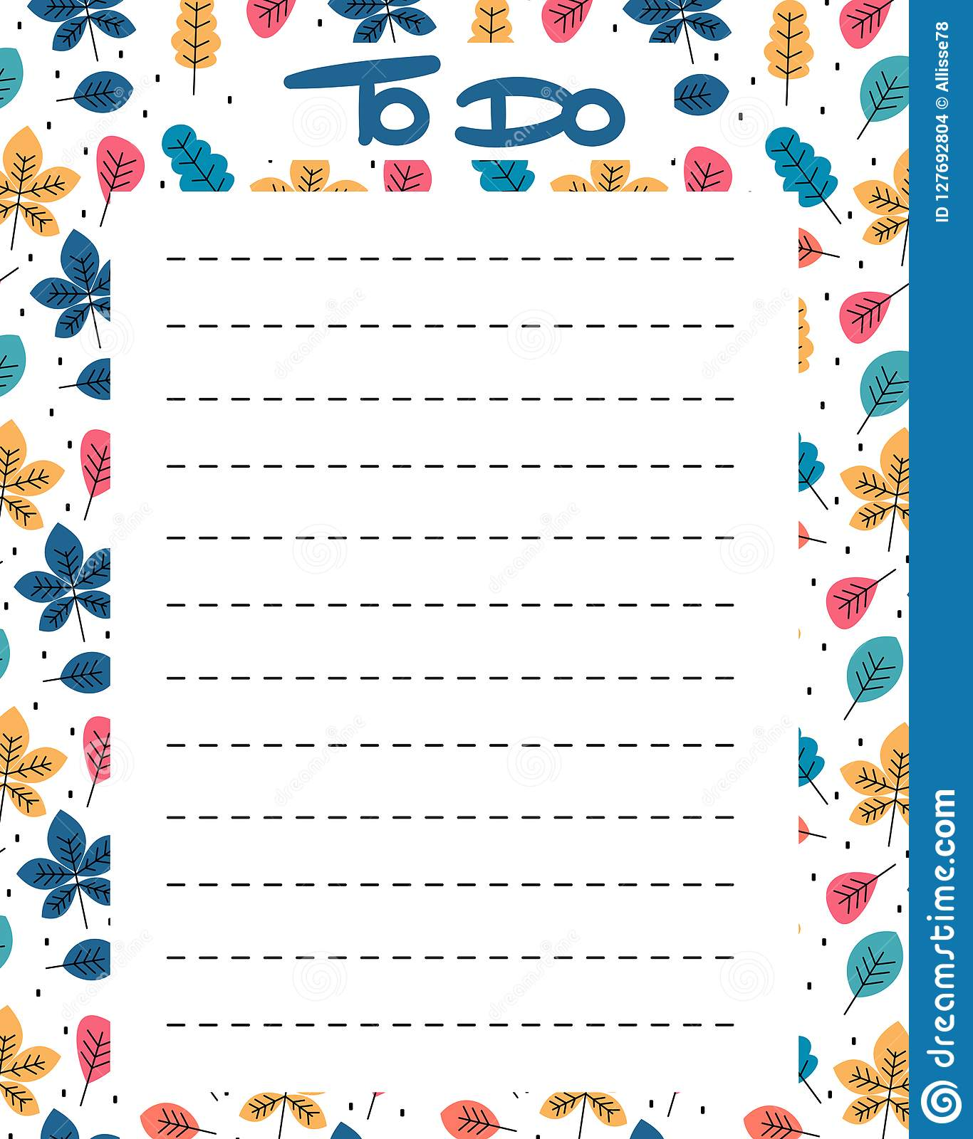 Cute To Do List Vector Printable With Colorful Leaves