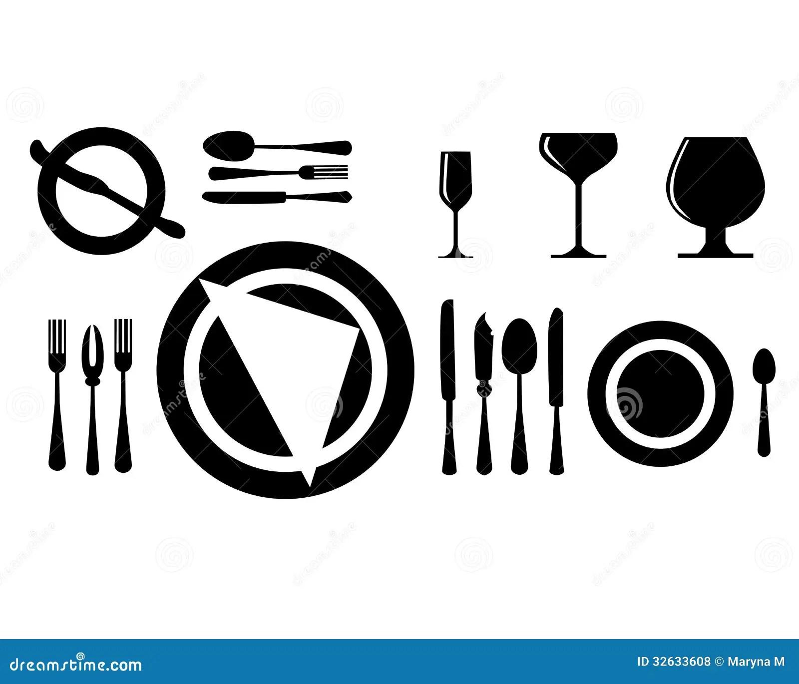 Cutlery Stock Vector Illustration Of Fork Black Drink