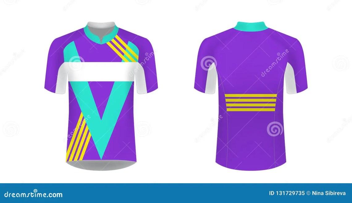 Download Cycling Jersey Vector Mockup. T-shirt Sport Design ...