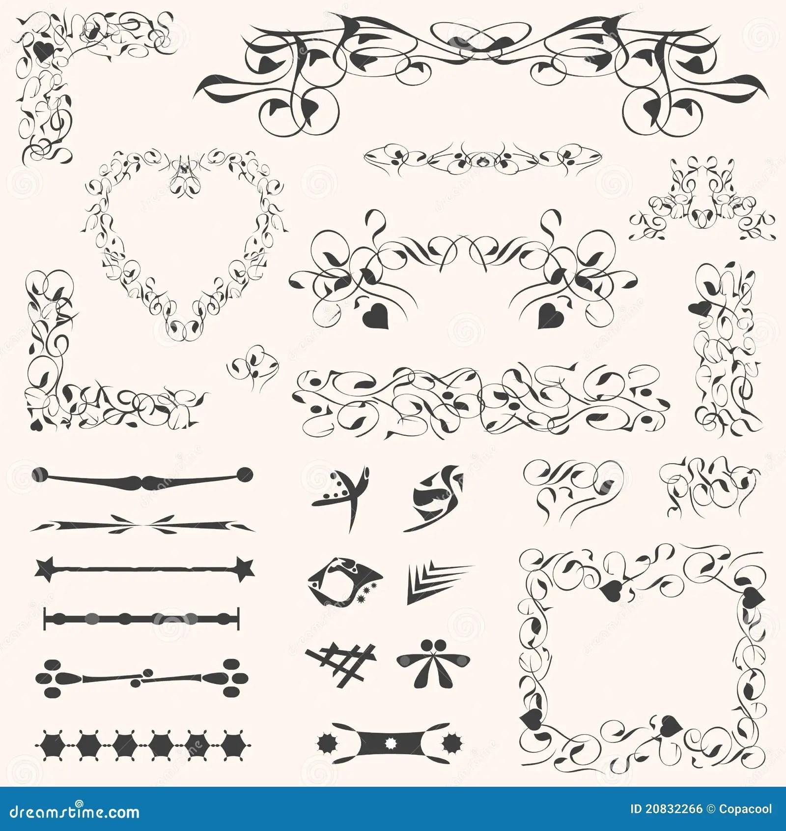 Decoration Calligraphique De Page D Elements De Conception