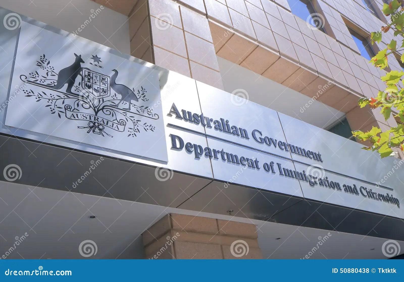 departement d australie de bureau d immigration