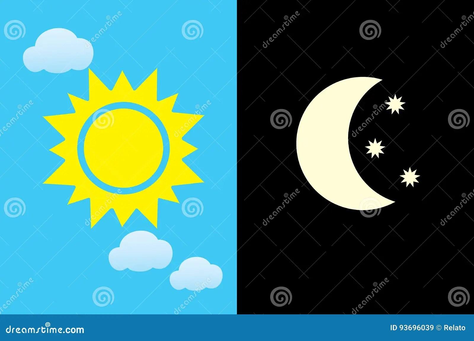 Dia Y Noche Vector Ilustracion Del Vector Ilustracion De