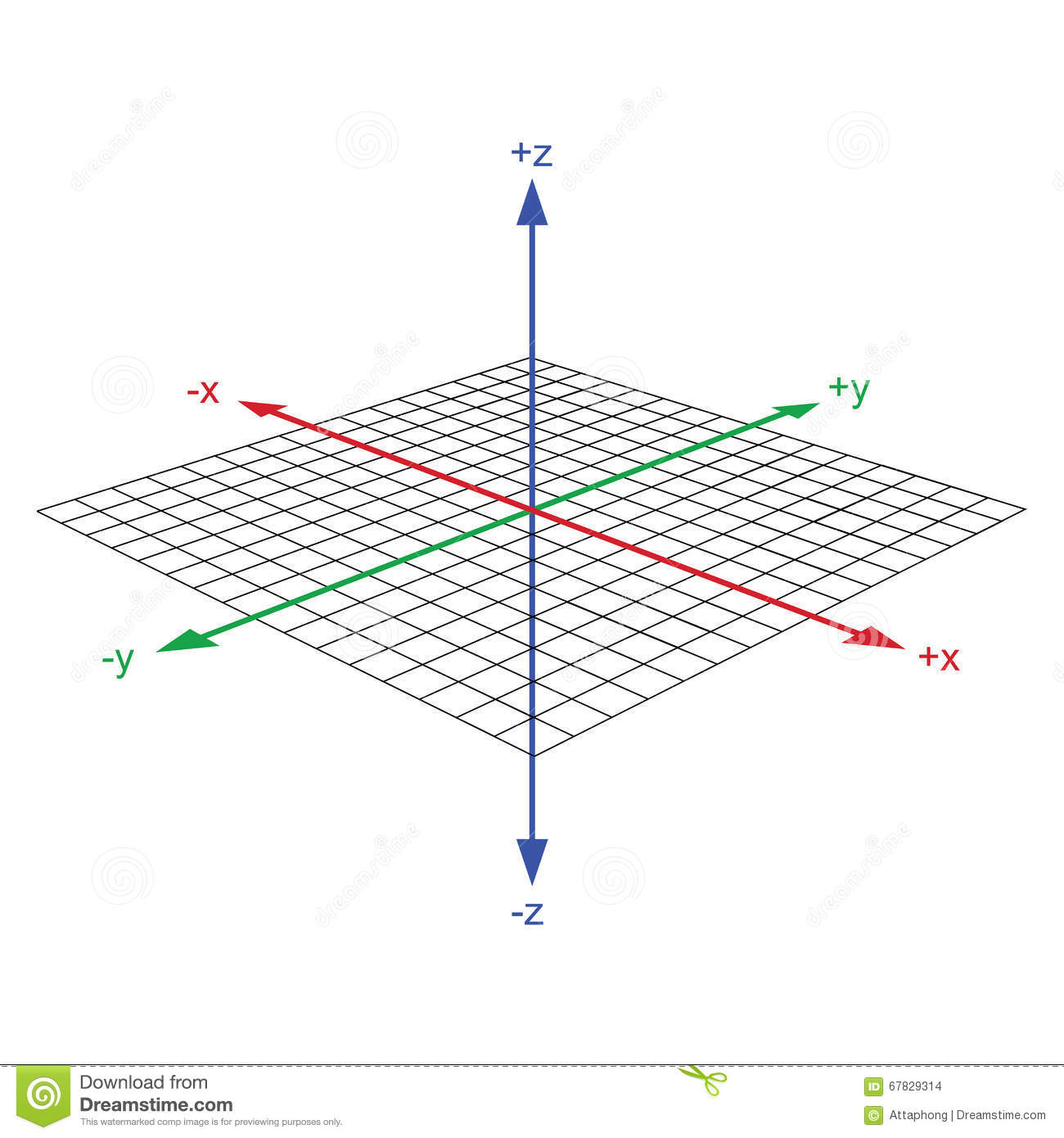 3d Coordinate Axis Vector Vector Illustration