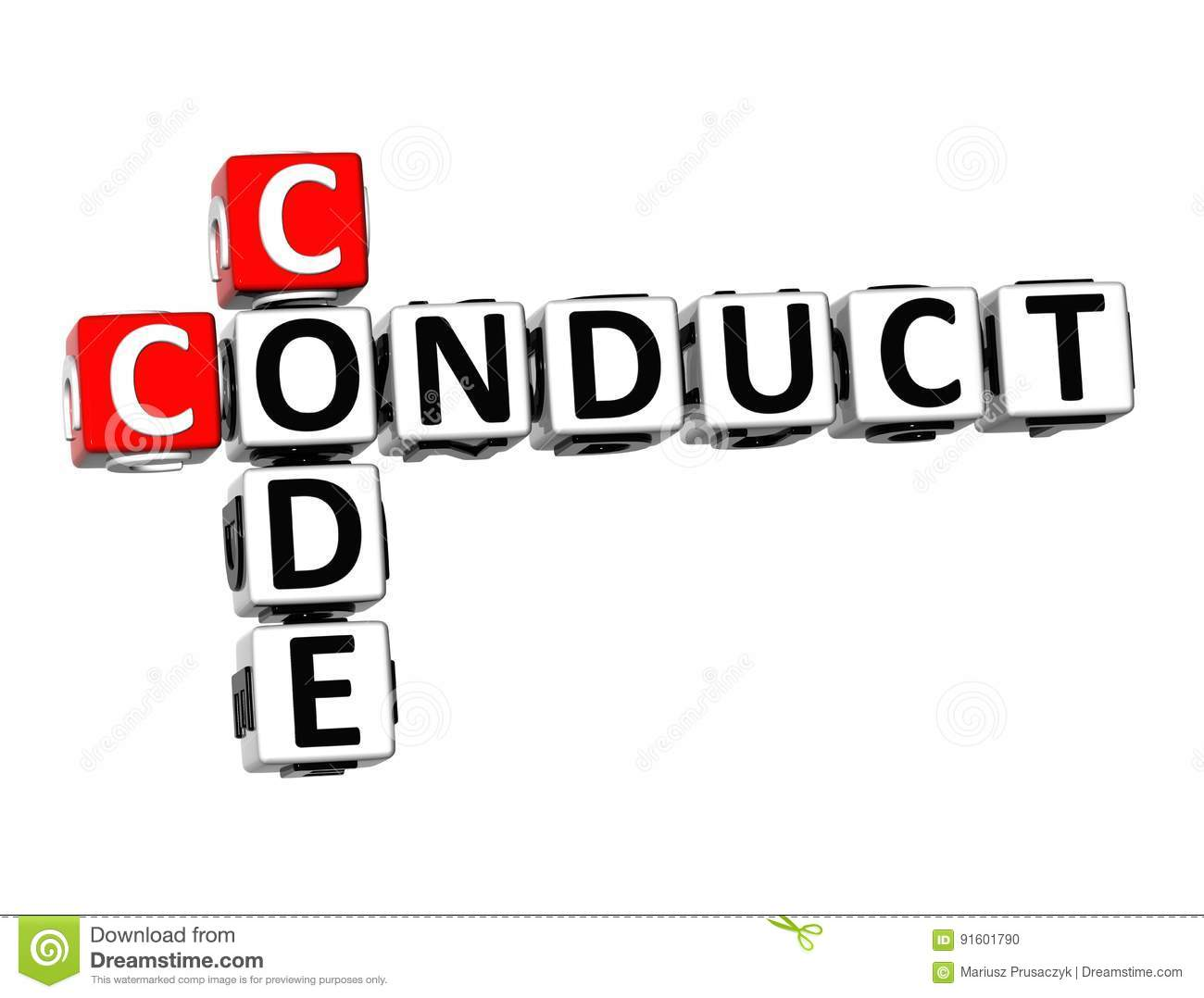 Code Of Conduct Stock Photo
