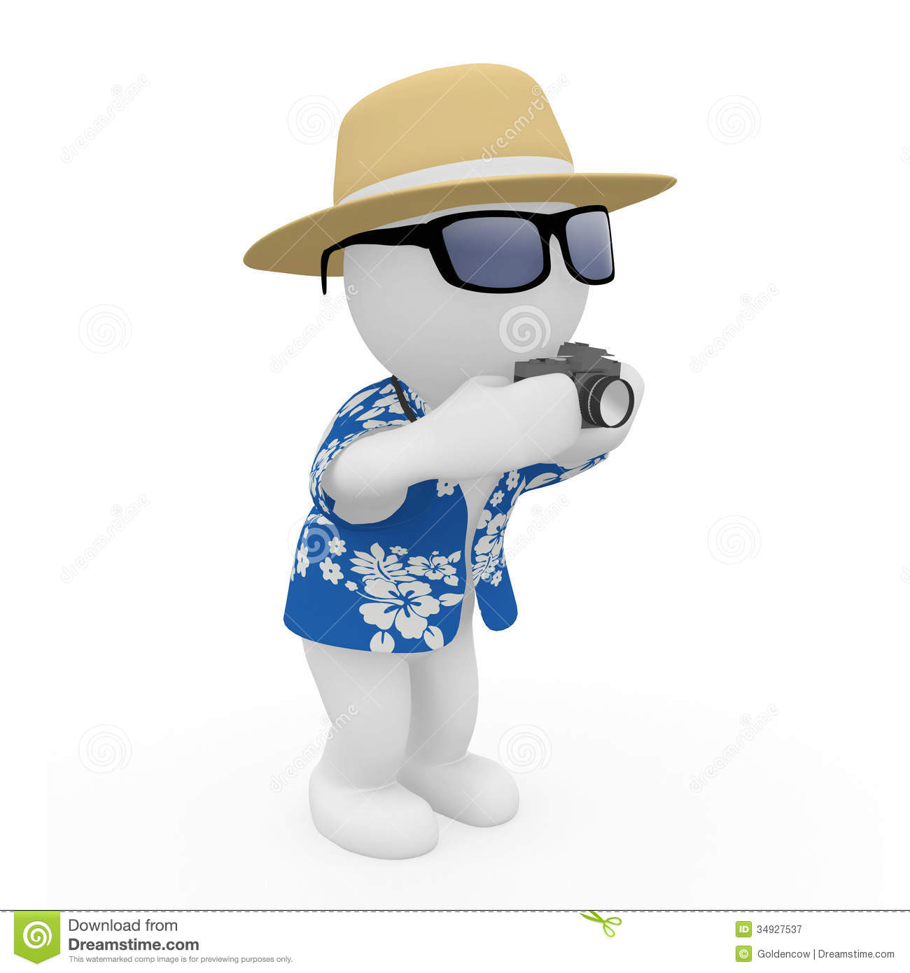 3d Figure On Holiday Stock Illustration Image Of High