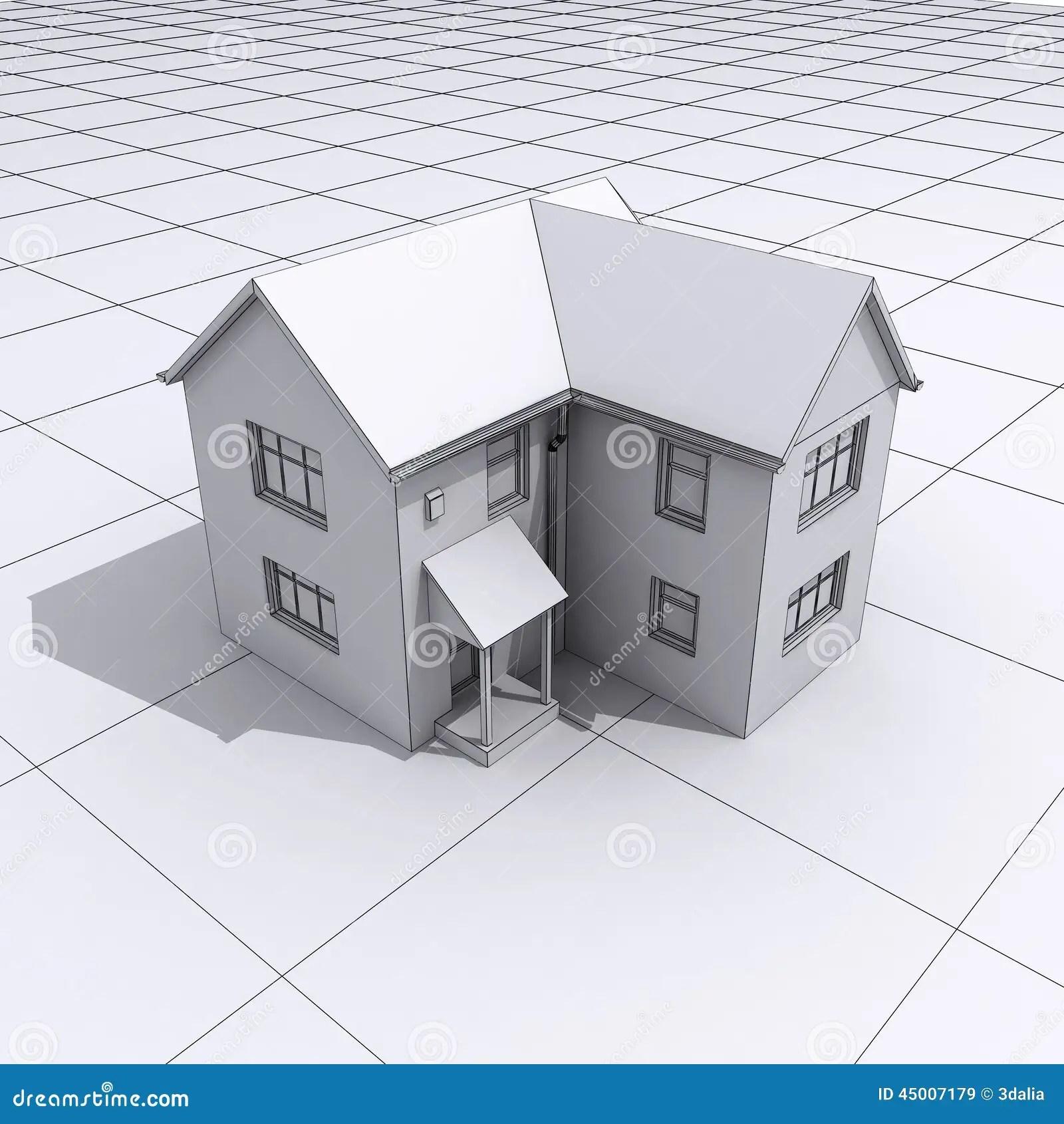 3d House Plans Stock Illustration Illustration Of Build