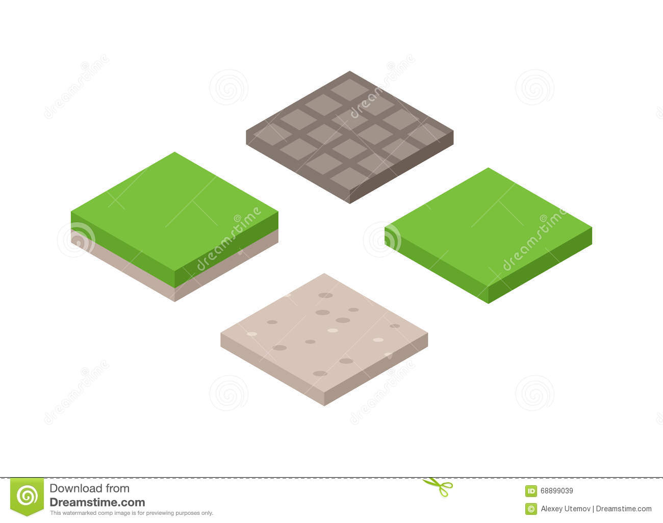 3d Illustration Of Isometric Land Cross Section Of Ground