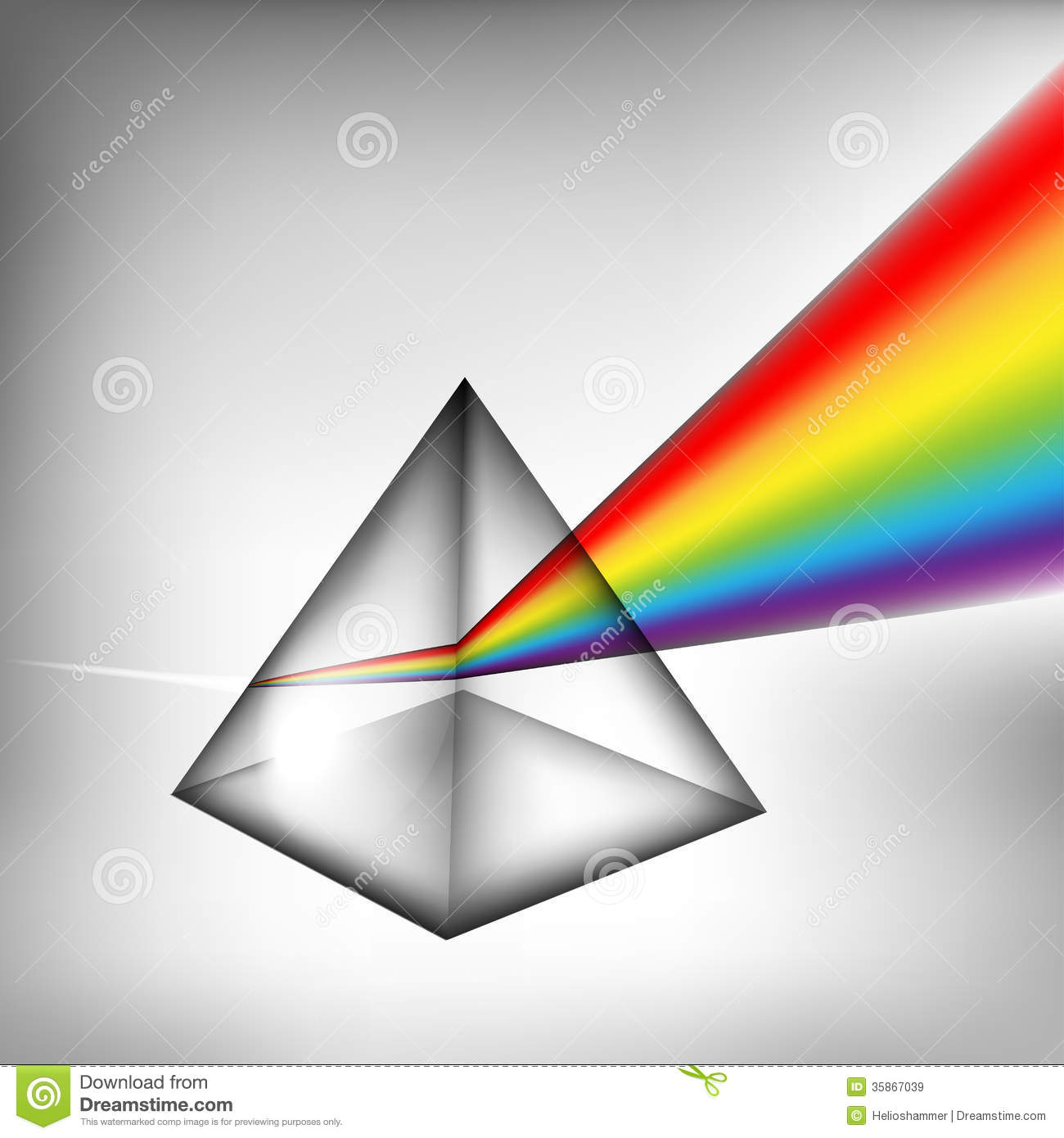 3d Prism With Light Royalty Free Stock Images